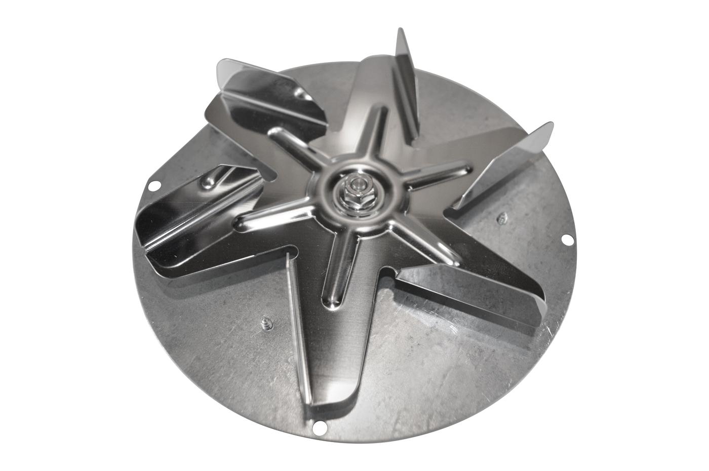 Rookgasventilatoren met bolvormige motor voor Caminetti Montegrappa