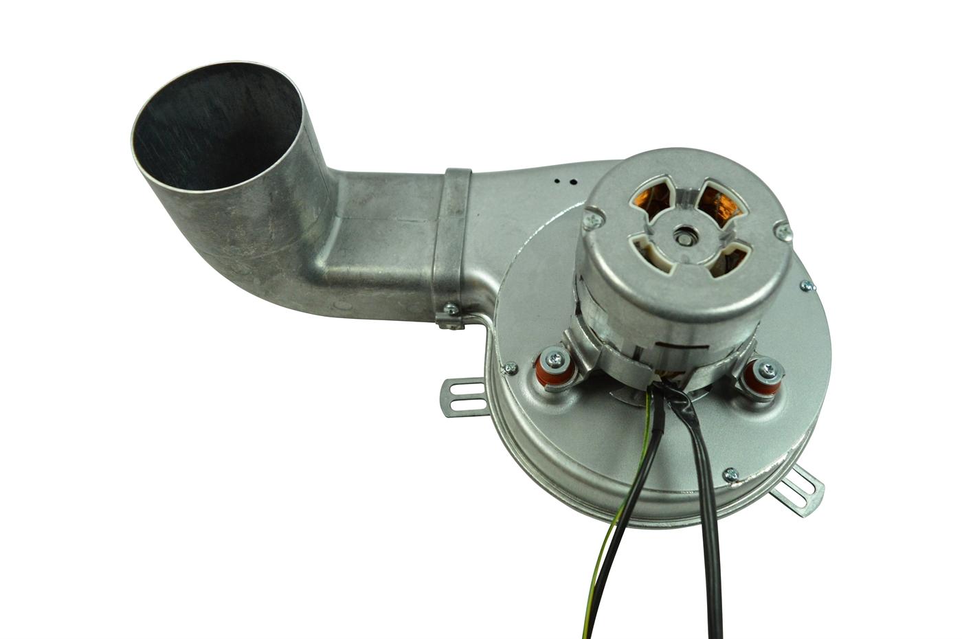 Rookafzuiger voor pelletkachel Diameter 150 mm schuine uitloop